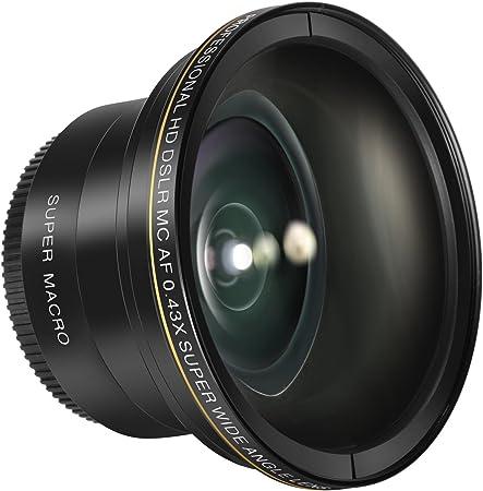 Neewer 52mm 0 43x Hd Objectif Grand Angle Professionnel Avec Macro Close Up Portion Pour Nikon D5300 D5200 D5100 D3300 D3200 D3100 D3000 Dslr Appareil Photo Amazon Fr Photo Caméscopes