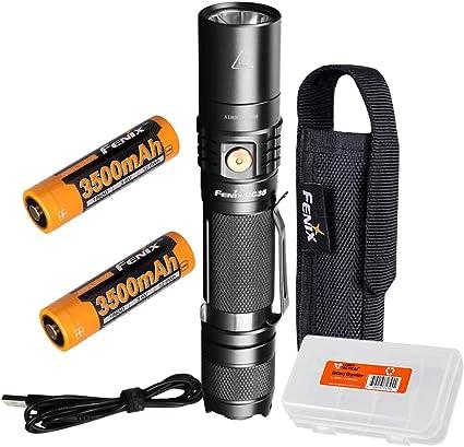 Fenix UC35 V2.0 2018 1000 Lumen Rechargeable Tactical Flashlight w// USB Adapters