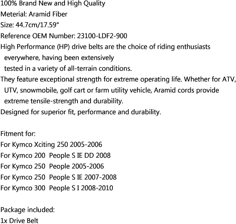 Bruce /& Shark Correa de transmisi/ón 23100-LDF2-900 Apta para Kymco 200250300 People S Xciting 250 05-06