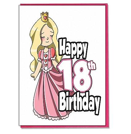 Tarjeta de felicitación de 18 cumpleaños para niñas, hija ...