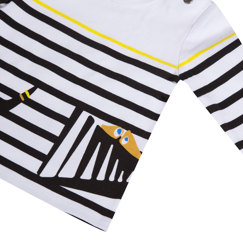 Catimini Boys Striped Long Sleeved Shirt with Fun Pattern