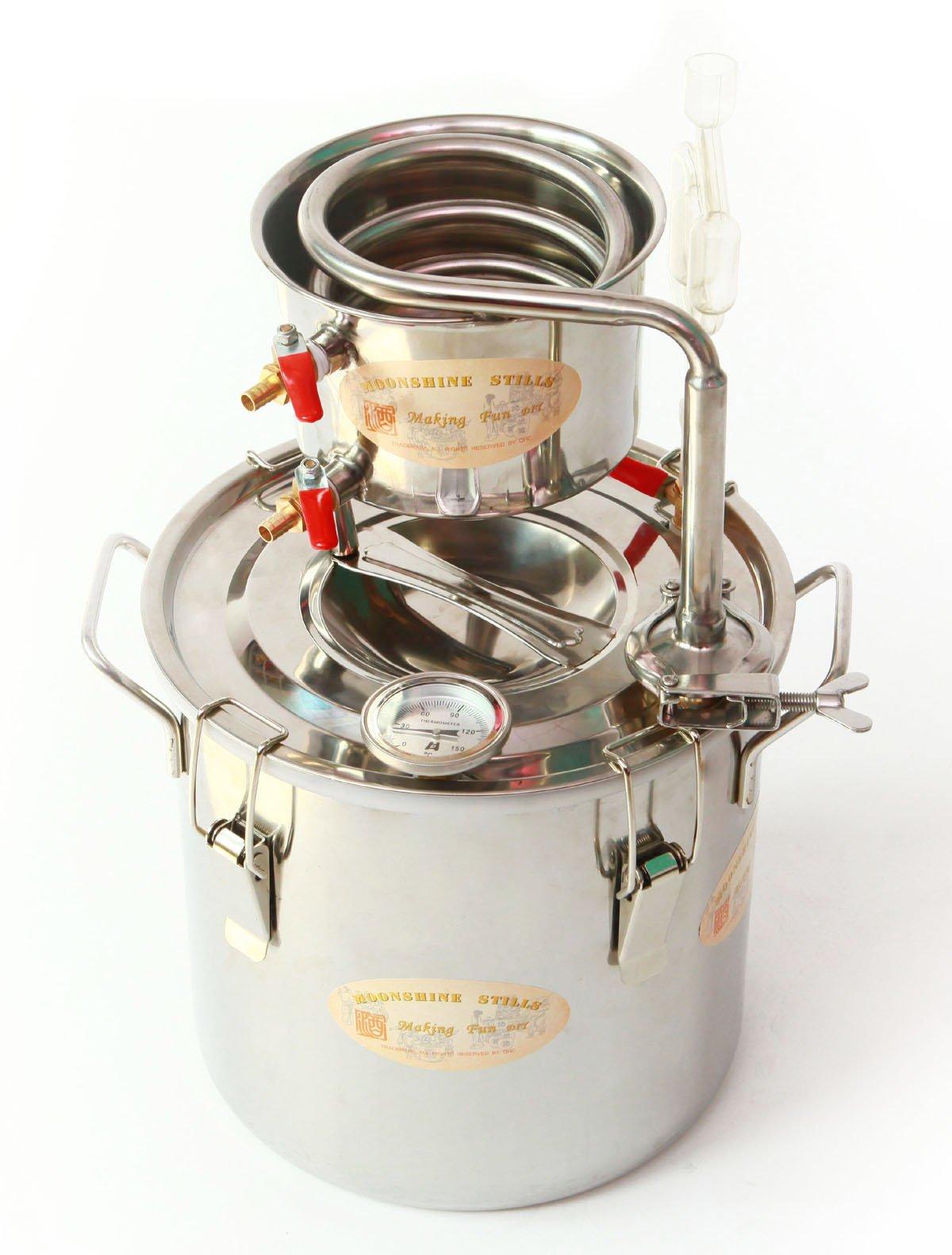 DIY 2 Gal 10 Liters Home Alcohol Whiskey Distiller Moonshine Still Stainless Steel Boiler Wine Making Kit by WMN_TRULYSTEP (Image #7)
