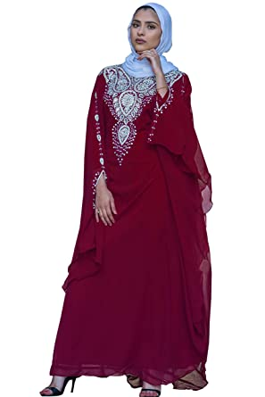 a6abed225b Covered Bliss Menal Kaftan for Women-Long Sleeve Maxi Dress
