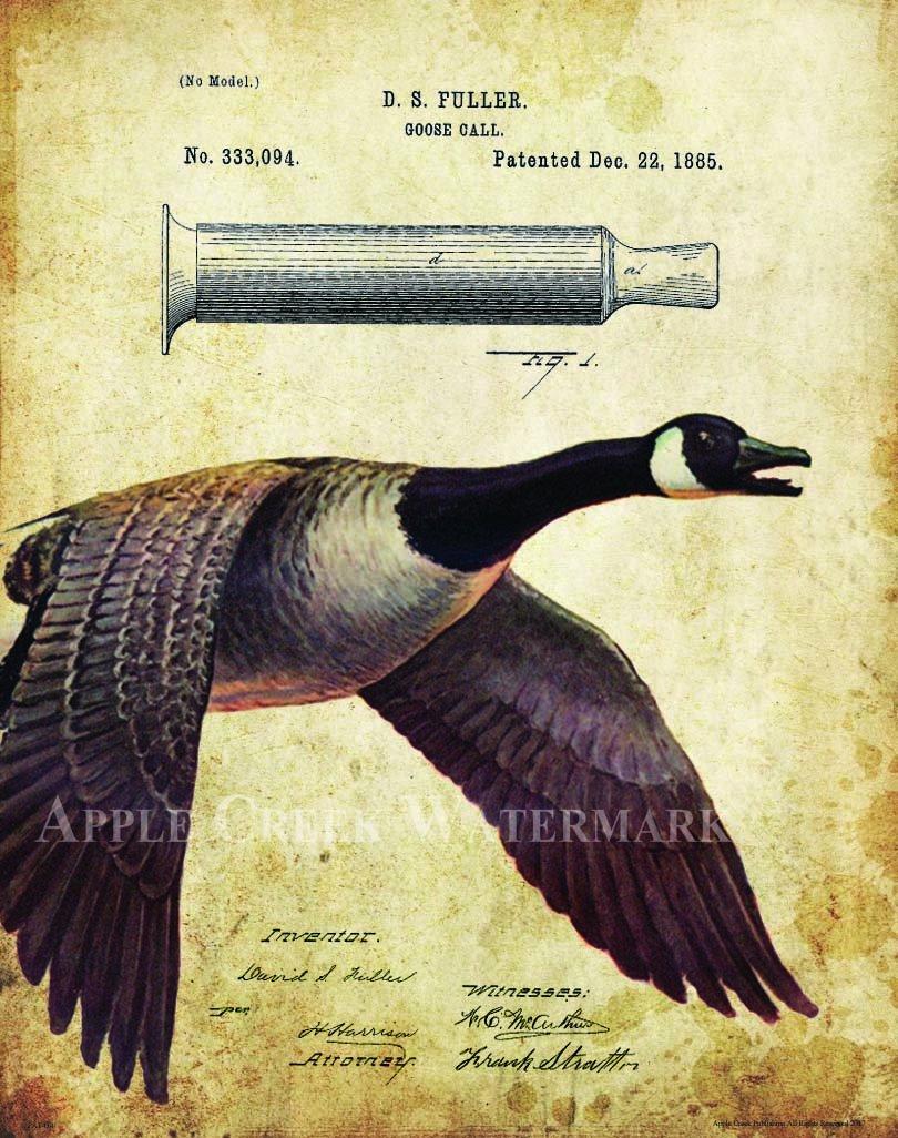Amazon.com: Duck Goose Call Hunting Decoy Patent Poster Art Print ...
