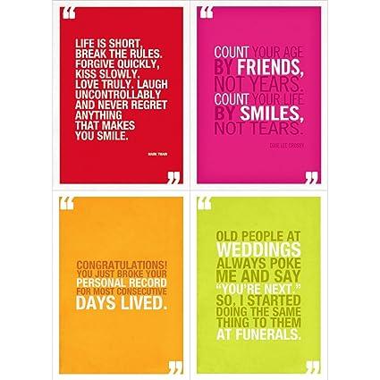 Amazon com : Tree-Free Greetings Colorful Birthday Quotes