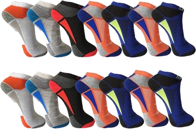 alto porcentaje de algod/ón BestBuy-Shop tallas 39-42 y 43-46 12 pares de calcetines cortos de hombre para deporte y ocio dise/ñados en Alemania
