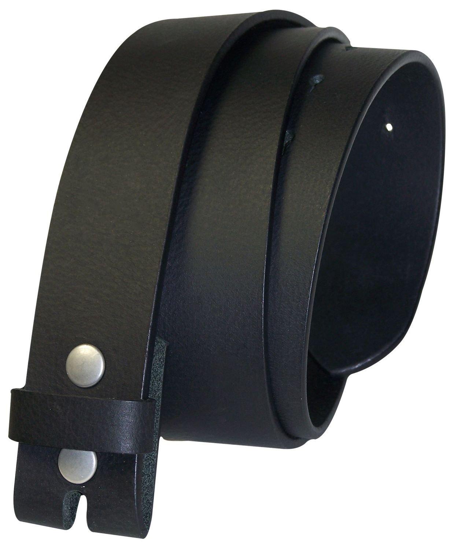 FRONHOFER Interchangeable belt, no buckle snap-on belt, buffalo leather, 8 oz., Size:waist size 33.5 IN M EU 85 cm, Color:Dark brown