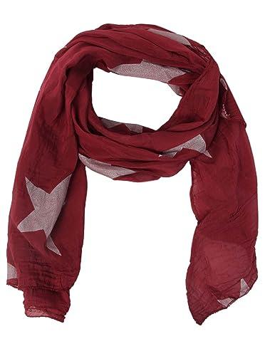 Pañuelo de Seda para Mujer con purpurina de estrella de Zwilling Corazón/elegante accesorio,/Puntos/de seda bufanda/pañuelo/hombro de toalla o sobre.