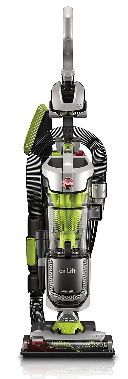 Hoover UH72511CA Air Lift Bagless Upright Canister Vacuum, Green