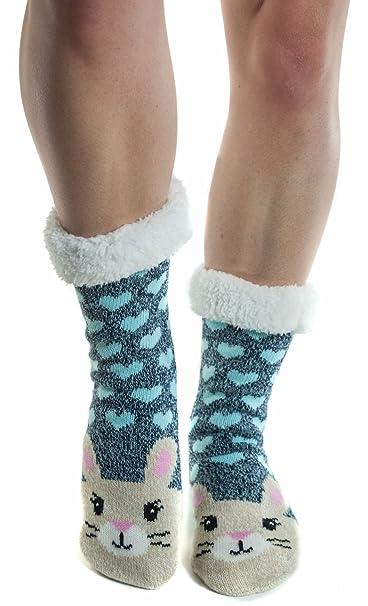 Amazon.com: Calcetines de invierno para mujer de piel ...