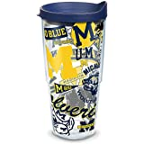 Tervis Michigan Wolverines All Over Wrap 24oz Double Wall Tumbler with Blue Travel Lid