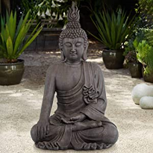 John Timberland Asian Zen Buddha Indoor Outdoor Statue 42
