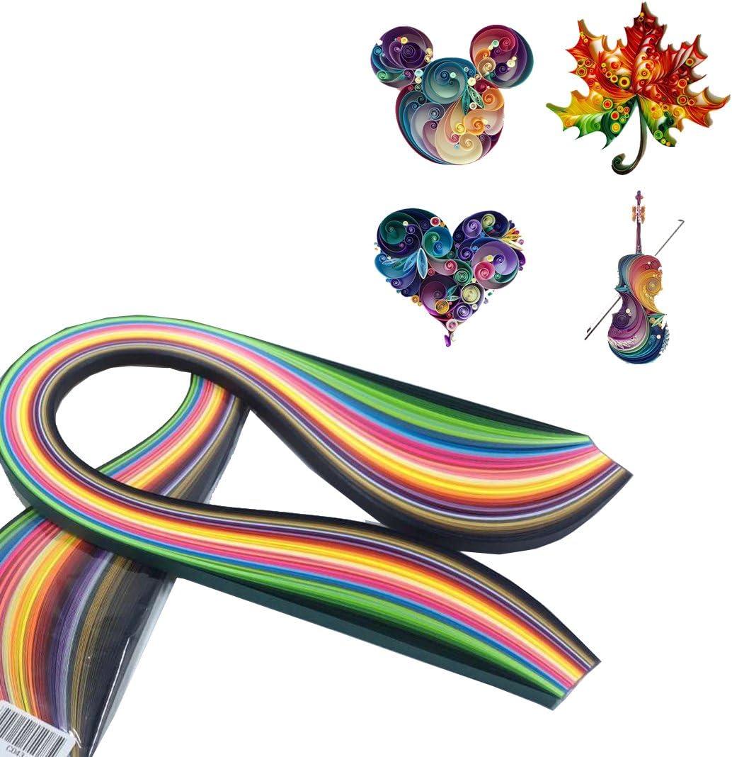 180 Rayas Quilling Papel 3mm ancho color mezclado para Bricolaje Craft 36 Colores
