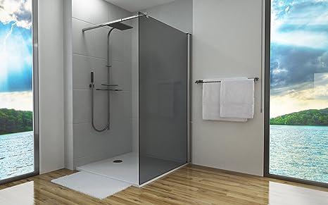 Pareti Per Doccia In Vetro : Parete divisoria per doccia mm grigio in vetro di sicurezza esg