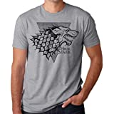 M Game of Thrones Mens Winter Is Coming Stark Wolf Head Logo Shirt New S XL