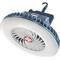 Domary Ventilador de acampamento portátil Lanterna de LED Mini Ventilador de mesa USB recarregável 2400mAh Ventilador de…