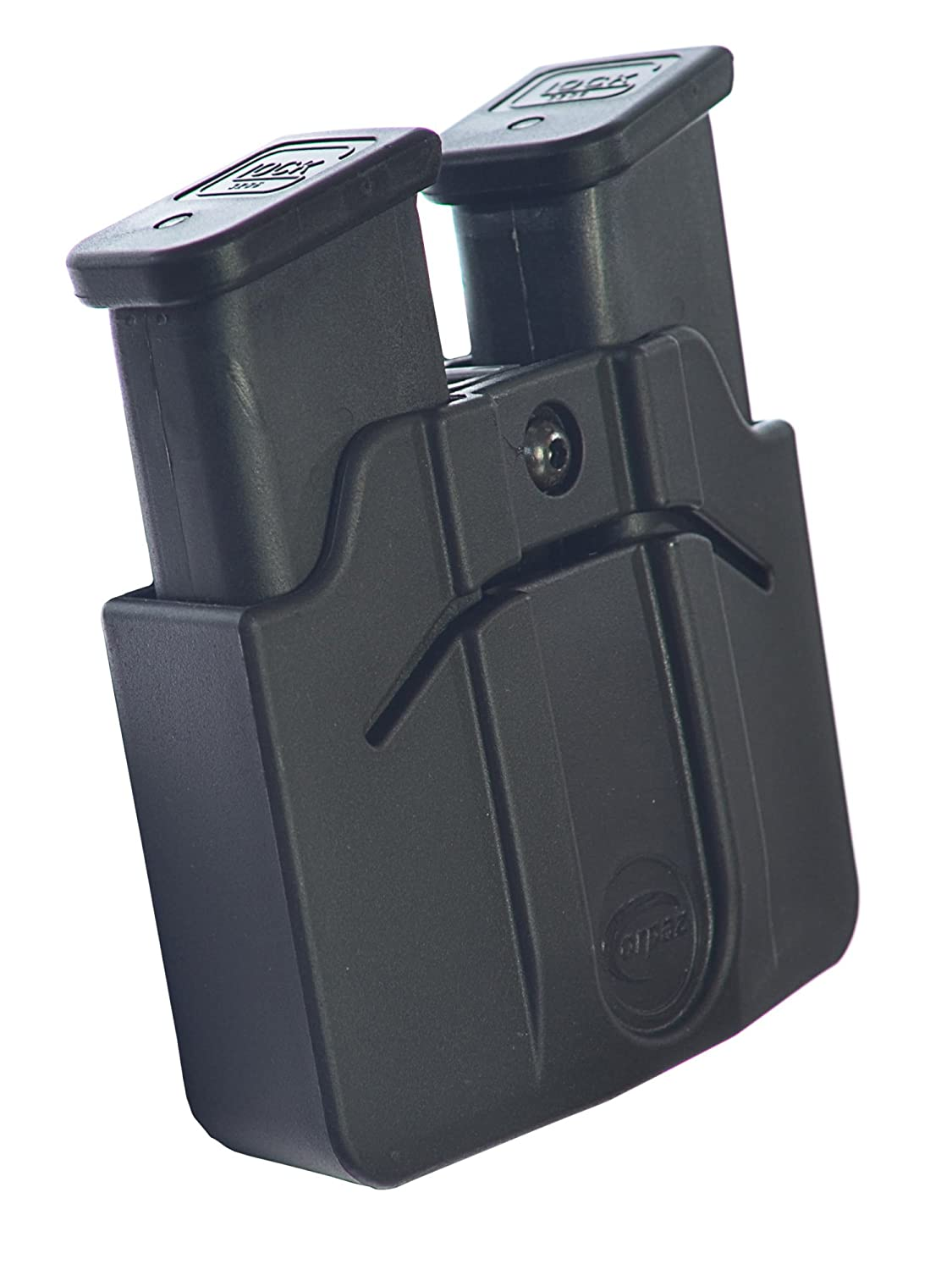 Orpaz Magazine Belt Holster Holds 2 Double Stack 9mm POLYMER Mags Adjustable for Rotation/Retention