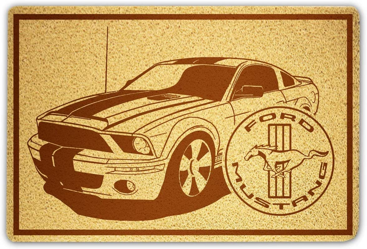 OLESIAstudios Ford Mustang Doormat Sweet Home Supplies Décor Accessories Unique Gift Handmade Present Idea Original Design Commercial Outside Inside Personalized Quotes Exterior