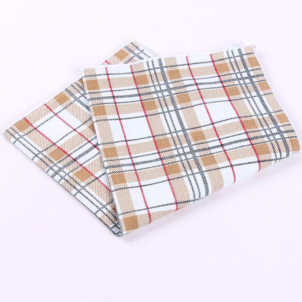 Yevison Suit Pocket Towel Fashion Cotton Jacquard Printing Square Towel Dress Banquet Accessories Men's Cotton Handkerchief