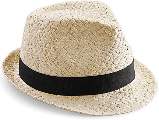 Junior Kids Boys Girls Child Handmade Festival Summer Beach Sun Straw Trilby Hat