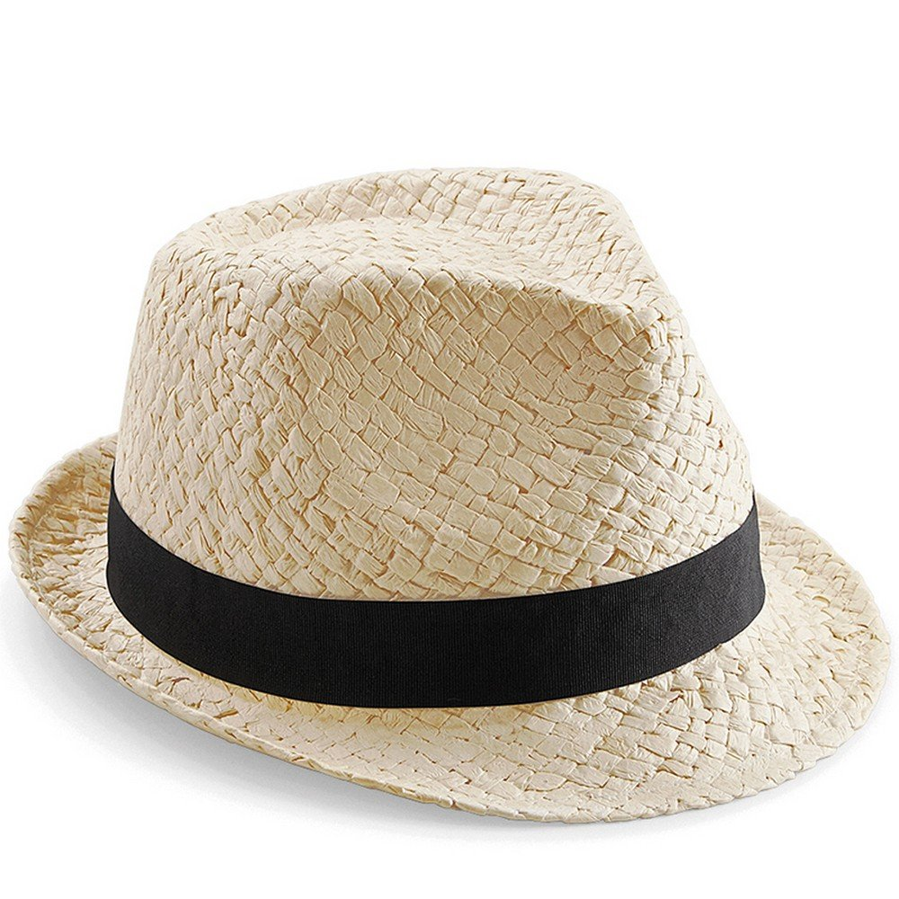 0e04f25462391 Beechfield Childrens Kids Junior Festival Trilby (One Size) (Natural)   Amazon.co.uk  Clothing