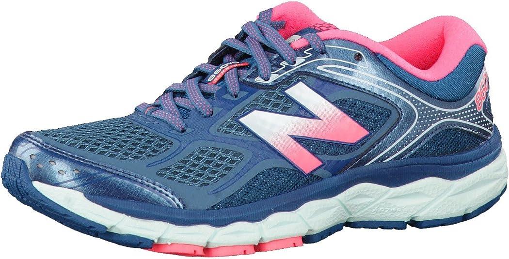 New Balance w860 V6 Mujer Zapatillas de Running B Ancho, Color Azul, Talla 43 EU: Amazon.es: Zapatos y complementos