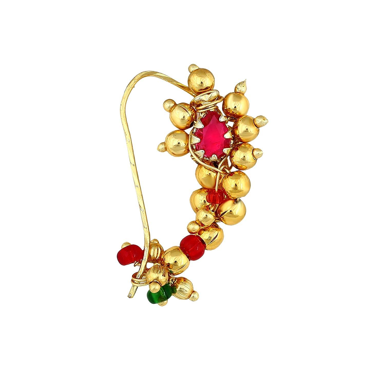 Buy Amaal Traditional Maharashtrian Nath Jewellery Sets Pearl Gold