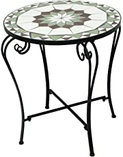 D64080 Metal Mosaic Round Table