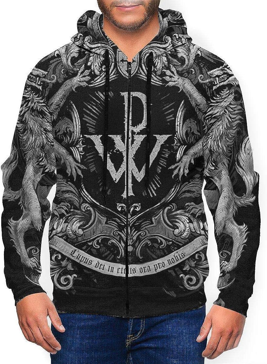 DABSON Powerwolf1 Mens Hoodie Jacket Black