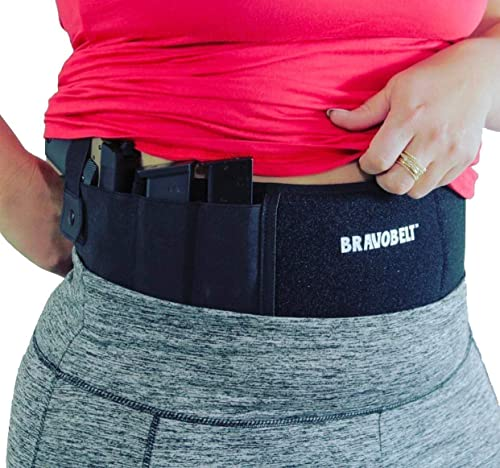 BRAVOBELT Belly Band Holster for Concealed Carry - Athletic Flex FIT for Running, Jogging, Hiking