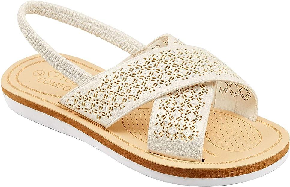 Laser Cut Diamante Sandals