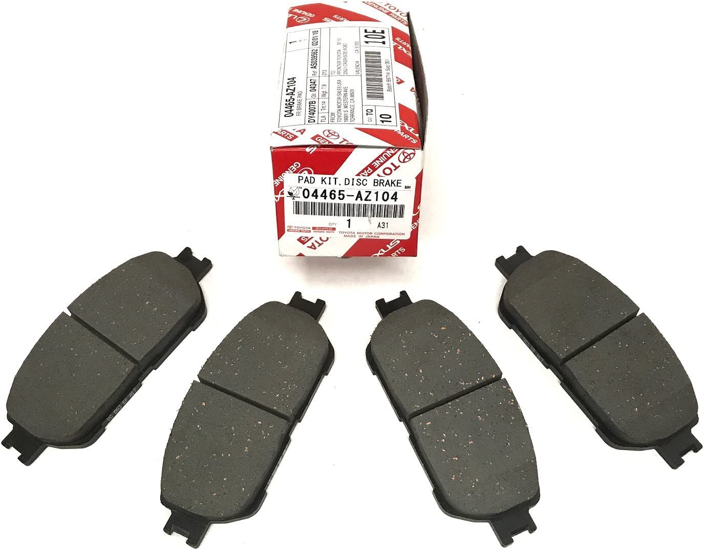 Avalon Camry Sienna Solara     Front Brake Pad Shim Set   OEM Toyota 04945-58010