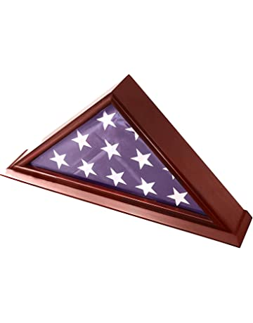 95637a8980d DECOMIL - 5x9 Burial Funeral Veteran Flag Elegant Display Case with Base