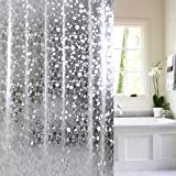 15 Gauge Nontoxic EVA Shower Curtain Anti-Bacterial, Wimaha Waterproof Shower Curtain Liner Mildew Resistant Water Repellent Heavy Duty Shower Liner, 72 x 78, Clear