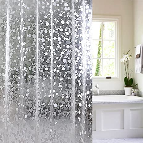 15 Gauge Nontoxic EVA Shower Curtain Anti Bacterial, Wimaha Waterproof Shower  Curtain Liner Mildew