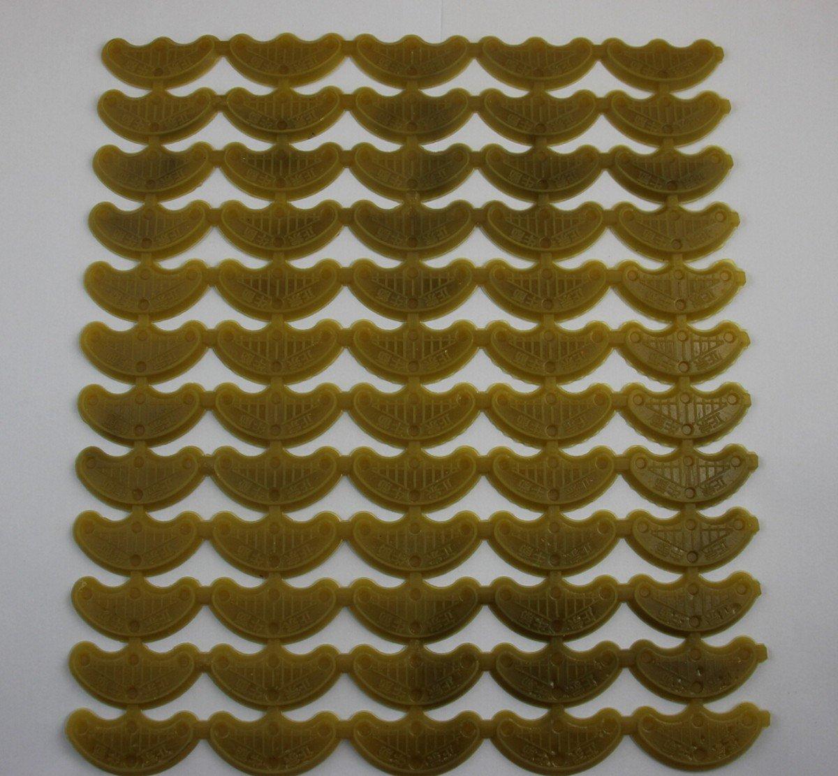 日本人気超絶の welliestr 60 ( 30ペア)イエローShoe Repairナイロンヒールセーバー、つま先プレートタップ、靴ヒールプレートタップ、W /爪40 * 20 mm   B00V7V2KRM, ブランドリサイクルストアスマイル fa672220