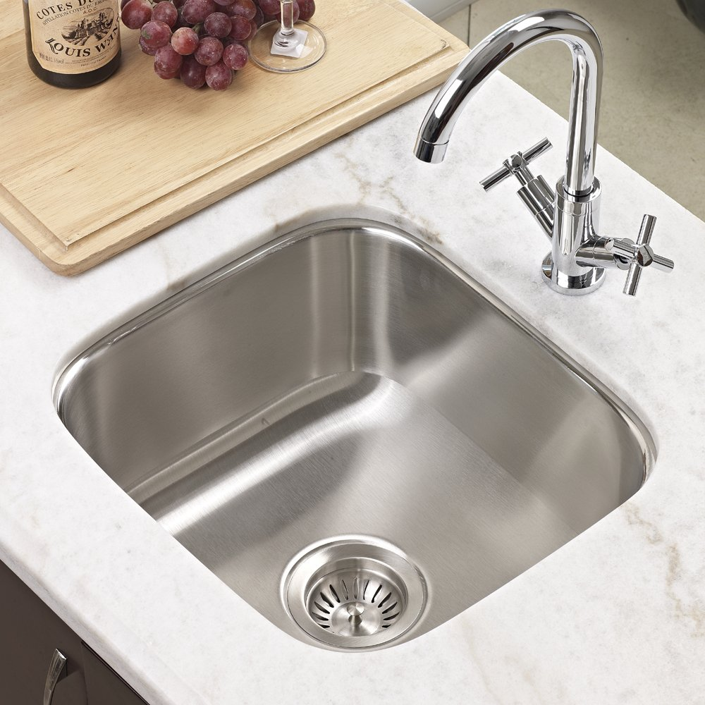 Houzer MS 1708 1 Club Series Undermount Stainless Steel Square Bowl Bar/Prep  Sink   Kitchen Bar Sinks   Amazon.com