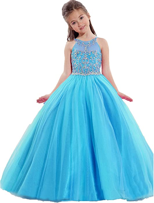 Amazon.com: TaYan Little Girls Birthday Party Ball Gowns Beaded Kids ...
