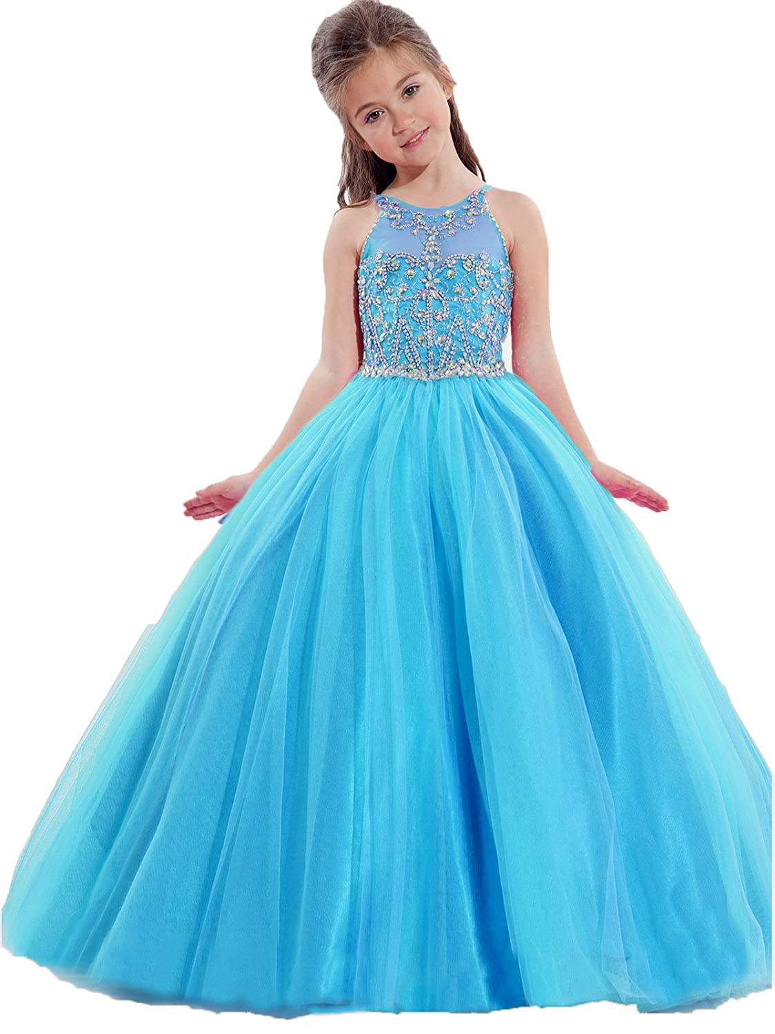 Amazon.com: TaYan Girls Birthday Party Ball Gowns Beaded Kids ...