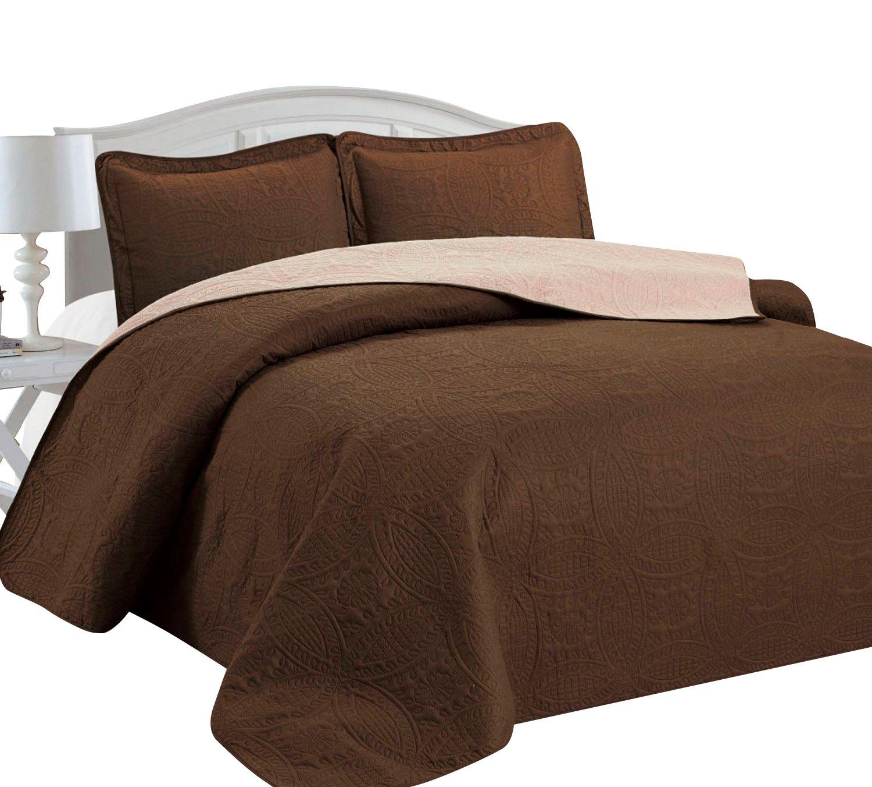 Amazon.com: Home Sweet Home Victoria Design Reversible 3 PC Quilt ...