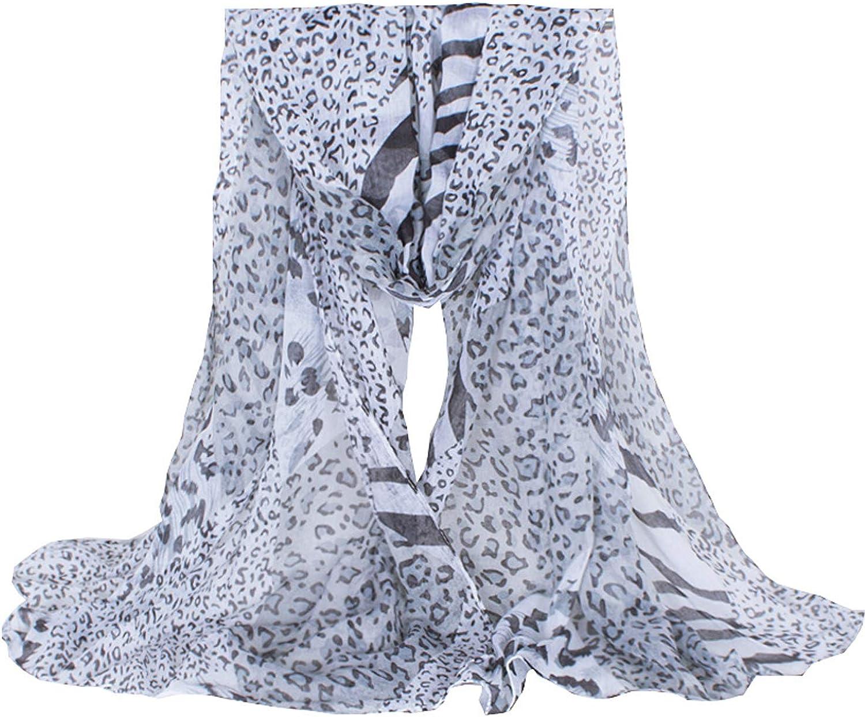 Daguanjing Fashion Lightweight Scarfs For Women Leopard Print