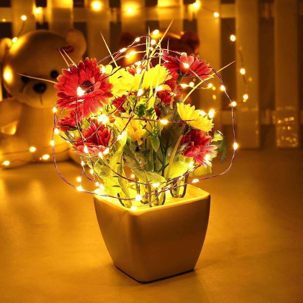Amazon.com : OFTEN USB String Lights, 10M 100LEDs Copper Wire Starry ...