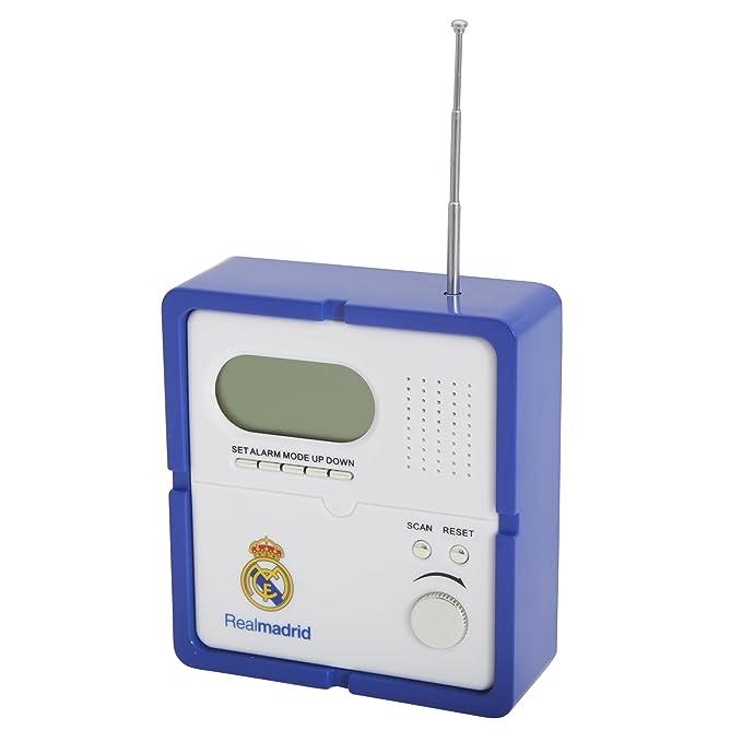 Real Madrid CF Fútbol Oficial Escudo radio con reloj digital: Amazon.es: Electrónica