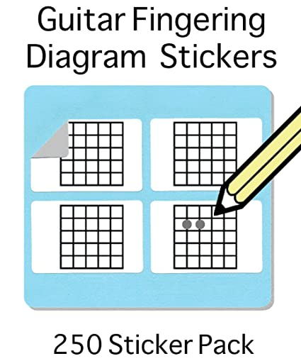 Amazon.com: Guitar Chord and Fingering Stickers (250 Sticker Pack ...