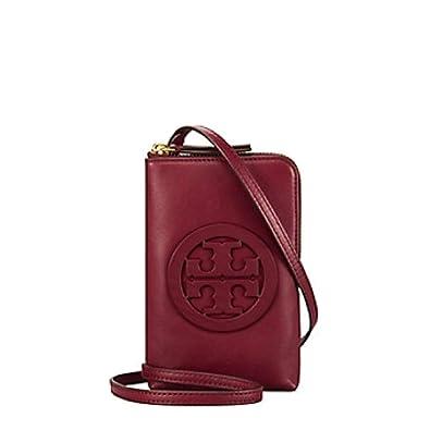 ca968071da4 Amazon.com  Tory Burch Charlie Mini Phone Cross body Case Women s Leather  Handbag 52863 (Imperial Garnet)  Shoes