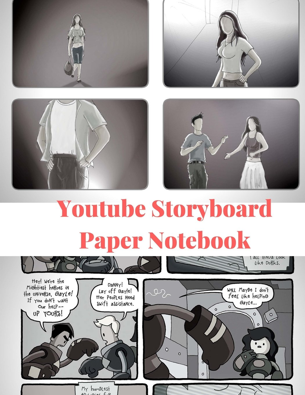 """Read Online Youtube Storyboard Paper Notebook: : Storyboard Paper Composition Notebook for Videos, Cartoons, Movies, Advertising or Theatre. 8.5"""" x 11"""", 150 Pages PDF"""