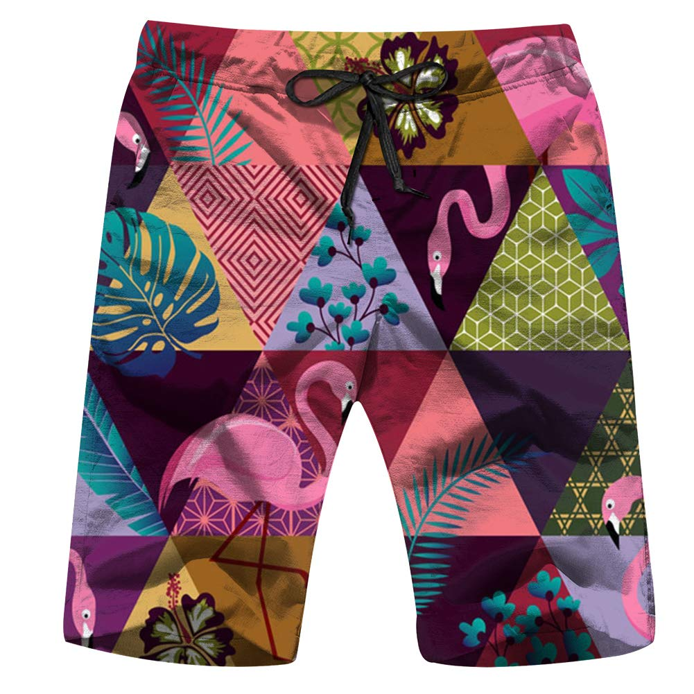 Anchor Sailor Deep Blue Beauty Fashion Mens Swim Trunks Quick Dry Bathing Suit Beach Board Shorts with Mesh Lining