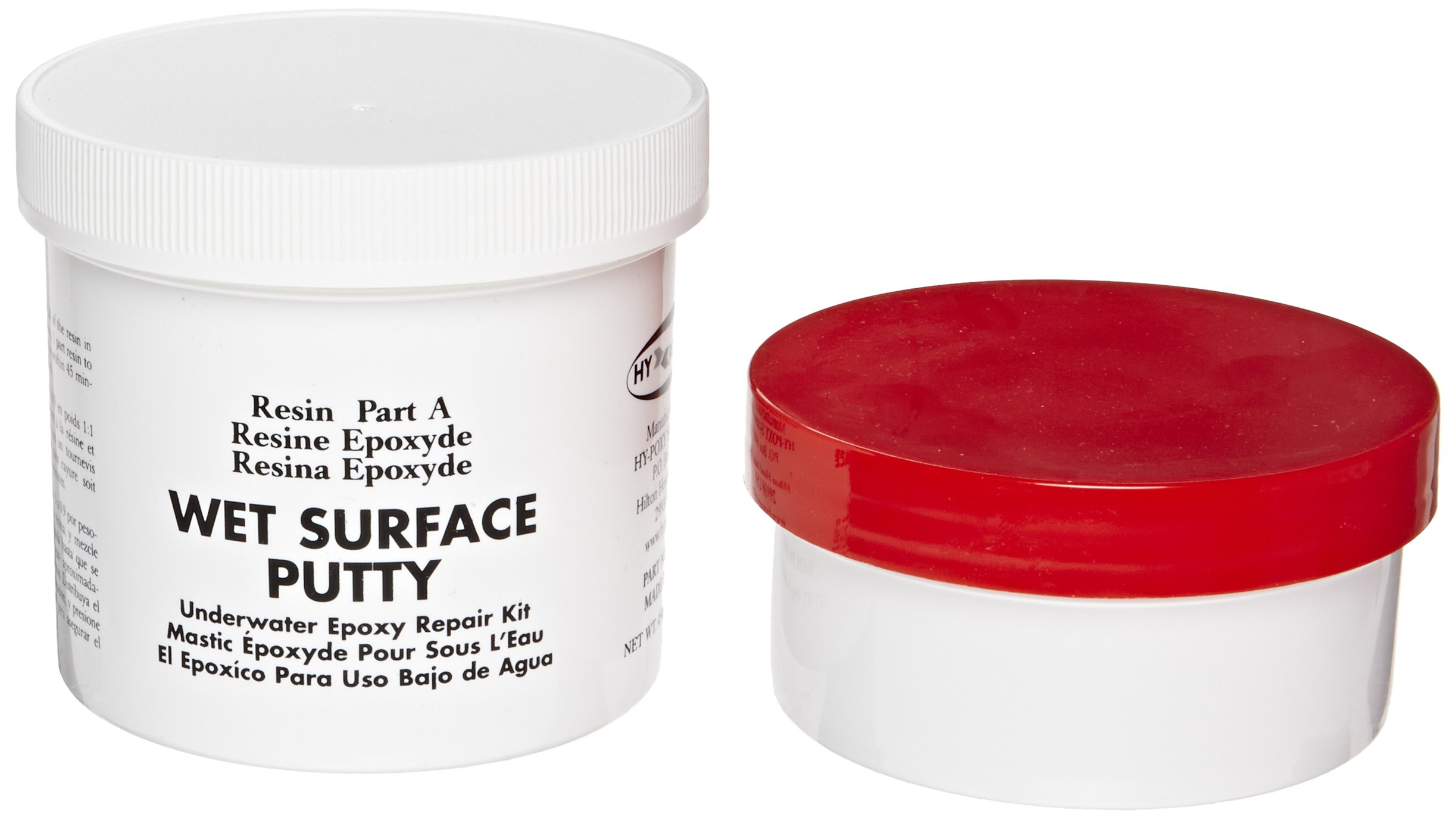 Hy-Poxy H-600 1 lbs Wet Surface Putty Repair Kit by HY-POXY