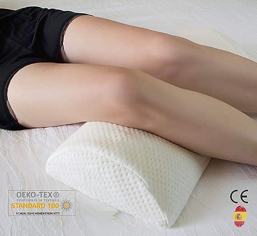 AIMO ESPAÑA FP-001 cojín Almohada/Gel para piernas y Rodilla, Libera presiones de Caderas, Espalda, pies, con Capa de Gel, Que da frescuara