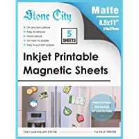 Stone City Magnetic Sheets Printable Matte Paper 12mil Thick for Inkjet Printers 8.5X 11 Inches 5 Sheets